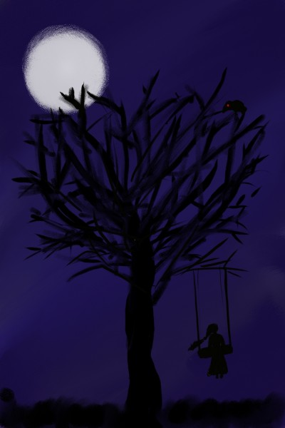 alone under the moon light  | runla | Digital Drawing | PENUP