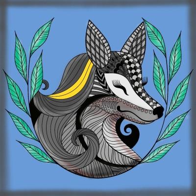 Gray Fox.   FaisalXW   Digital Drawing   PENUP