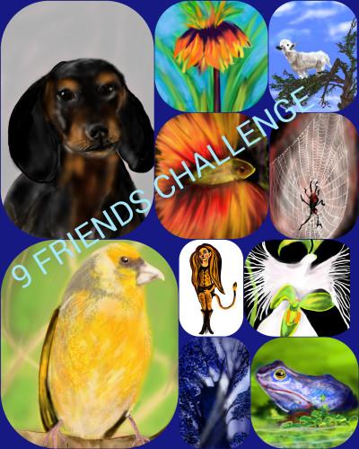 My 9 FRIENDS  CHALLENGE  | Barbra | Digital Drawing | PENUP