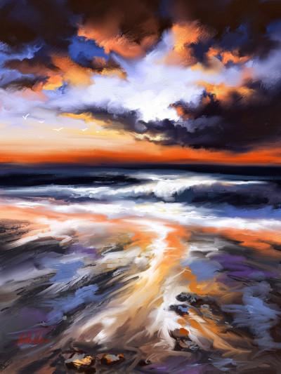 ~ Sunset at beach ~ Digital painting   Mishelangello   Digital Drawing   PENUP