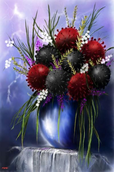Corona blossoms/ corona flowers  | nuni | Digital Drawing | PENUP