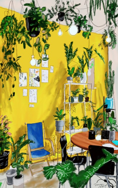 Yellow Room | missdarrian | Digital Drawing | PENUP