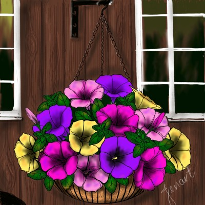 Petunias   jenart   Digital Drawing   PENUP