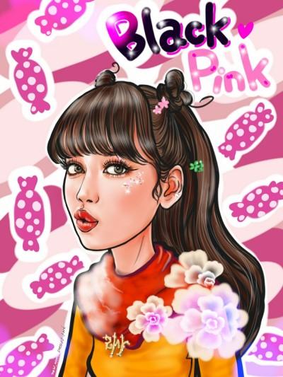 캐리커쳐 블핑 리사 | Iness_j.y_park | Digital Drawing | PENUP