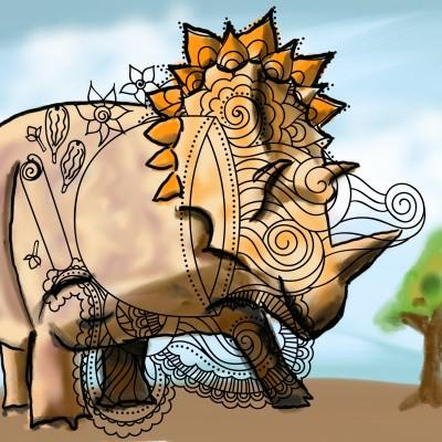 triceratop | J-O-C | Digital Drawing | PENUP