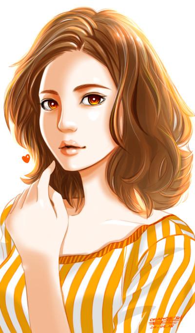 orange girl  | tosi73 | Digital Drawing | PENUP