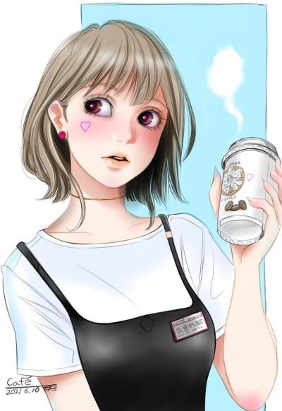 Cafe  | tosi73 | Digital Drawing | PENUP