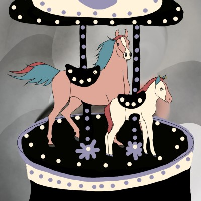 merry-go-round  | MissLady | Digital Drawing | PENUP