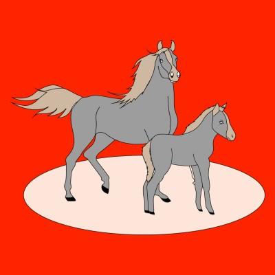 horse | FatimaSiddiqui | Digital Drawing | PENUP