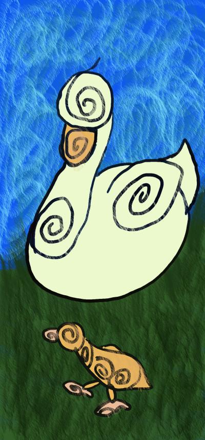 Swirly Ducks | sleepybee | Digital Drawing | PENUP