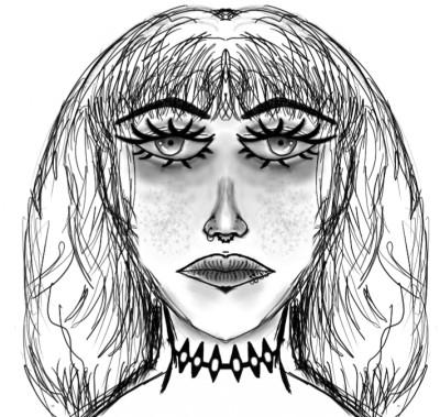 face | flowerflower | Digital Drawing | PENUP