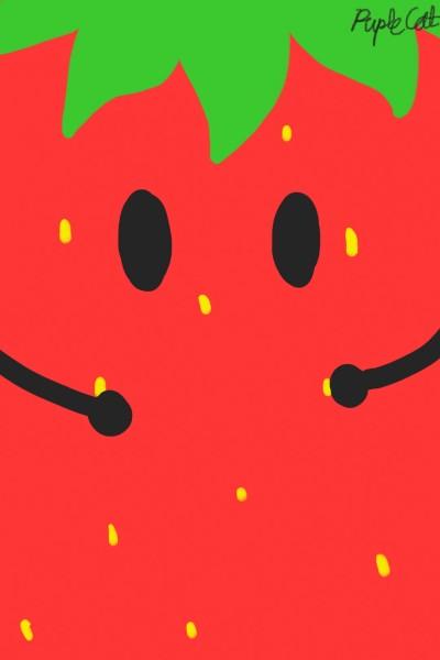Strawberry Wallpaper   PupleCat   Digital Drawing   PENUP