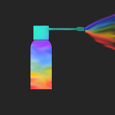 Rainbow spray  | A.KGandhi_INDIA | Digital Drawing | PENUP
