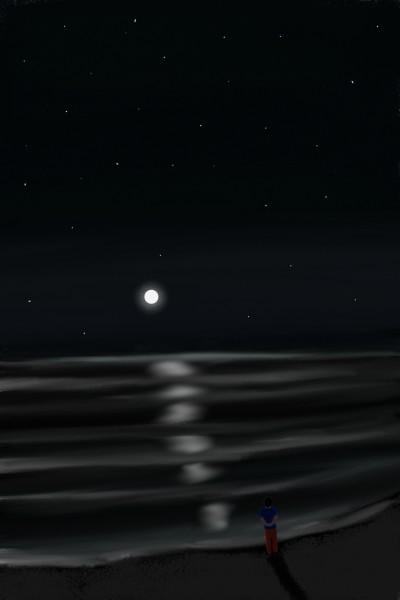 Mi amiga, la soledad nocturna | grgm | Digital Drawing | PENUP