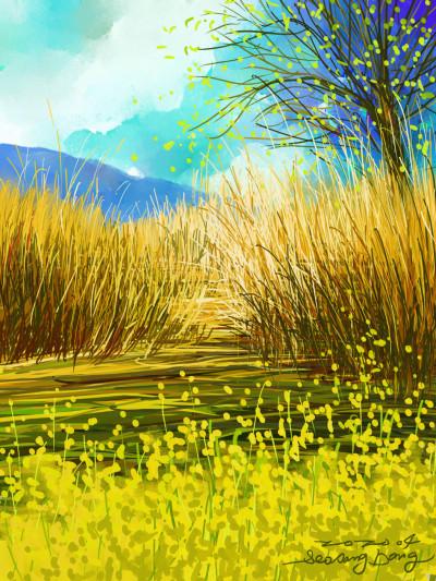 Spring border | SSB | Digital Drawing | PENUP