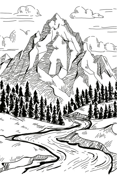 mountains  | MaryJen | Digital Drawing | PENUP