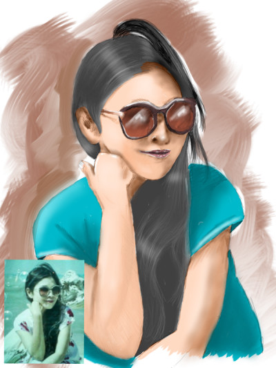 potrait drawing for Delima | opit | Digital Drawing | PENUP