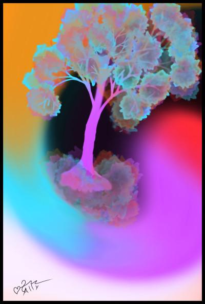 luminous color tree   sally   Digital Drawing   PENUP
