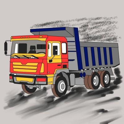 truck on duty  | kalthoum | Digital Drawing | PENUP