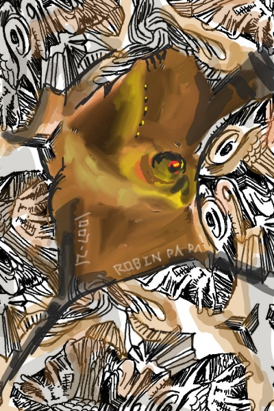 Bull Brown : Cafe Swirl   RobinPAPA   Digital Drawing   PENUP