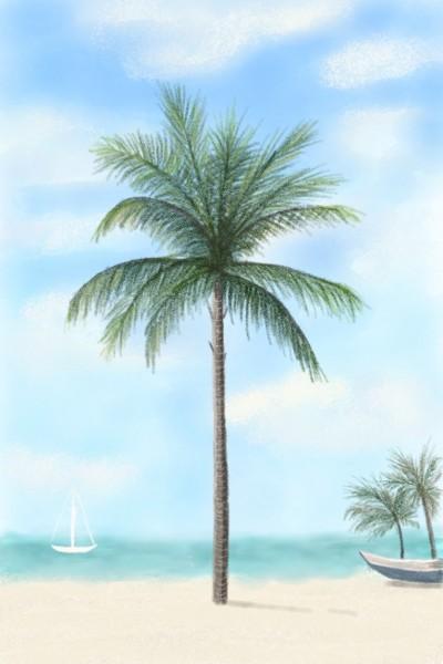 Beach Escape  | Sylvia | Digital Drawing | PENUP