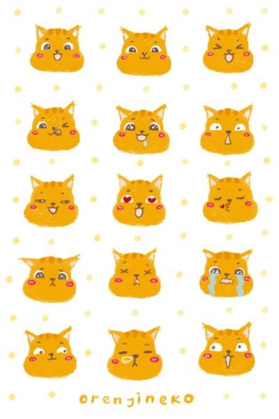 Orenji Emoticon | Orenjineko | Digital Drawing | PENUP