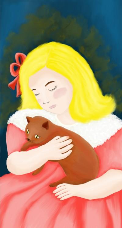 Mary Stevenson C***att - Sara holding a Cat   sherlock   Digital Drawing   PENUP