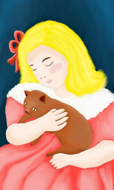 Mary Stevenson C***att - Sara holding a cat | sherlock | Digital Drawing | PENUP