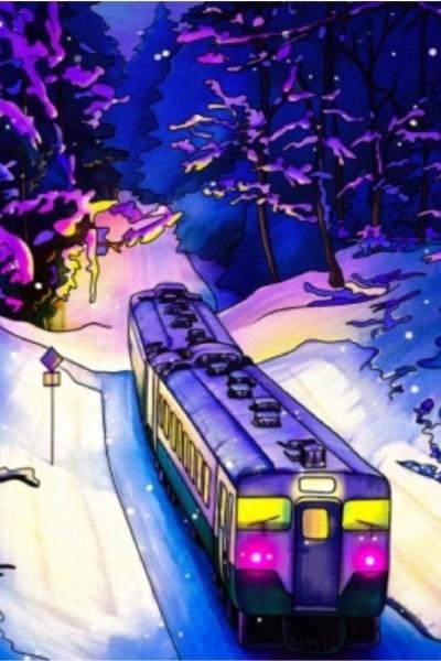 train in winter    Estelle   Digital Drawing   PENUP