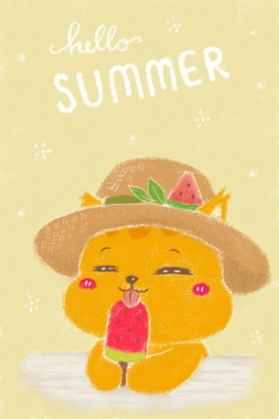 Orenji's Summer Hat Fav | Orenjineko | Digital Drawing | PENUP