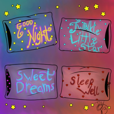 Good Night Pillows | BeanaKing13 | Digital Drawing | PENUP