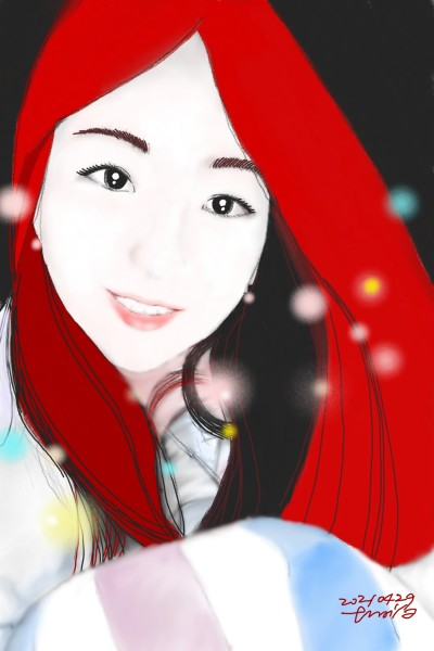 red wine-colored hair   xiaos   Digital Drawing   PENUP