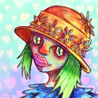 Flowers hat by nikolass  | nikolass83 | Digital Drawing | PENUP