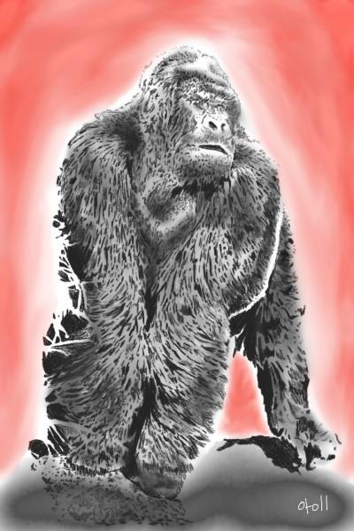Gorilla | oroll | Digital Drawing | PENUP