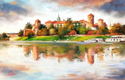 The Wawel Royal Castle, Krakow Poland.  | Mishelangello | Digital Drawing | PENUP