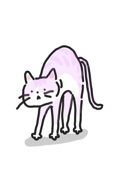 pink cat   Judy   Digital Drawing   PENUP