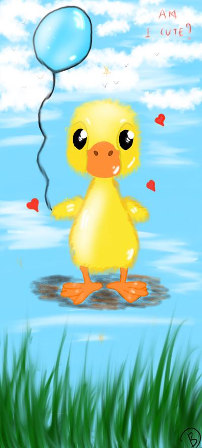 cute little duck   deenky   Digital Drawing   PENUP