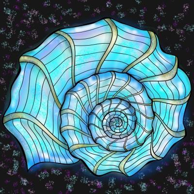 Sea shell Art | Sylvia | Digital Drawing | PENUP