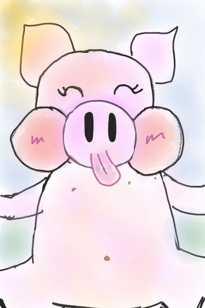 the happy piglet  | THE_BEST | Digital Drawing | PENUP