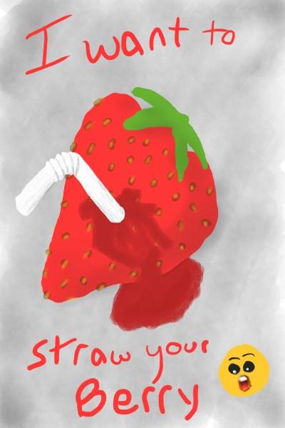 straw that berry | kojul | Digital Drawing | PENUP