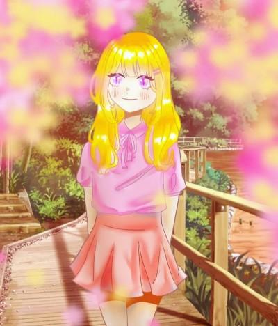 리나 2차 긂대_봄 의인화_개나리_벚꽃 | _Sso | Digital Drawing | PENUP