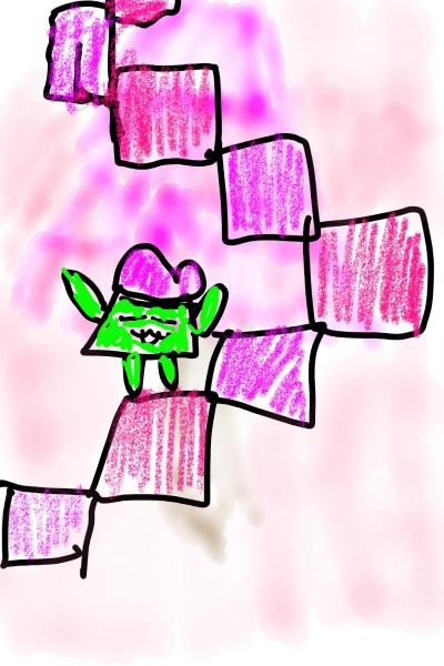 분홍분홍한 계단 | _runMMEG_ | Digital Drawing | PENUP