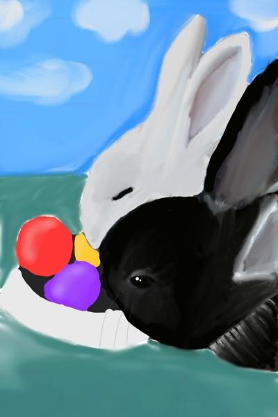 Happy Easter to everyone♡♡♡ | Gusi | Digital Drawing | PENUP