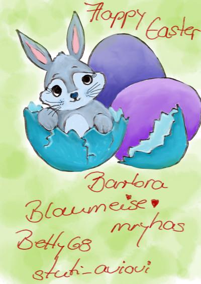Happy Easter Barbra, Blaumeise05, Betty68 | sherlock | Digital Drawing | PENUP