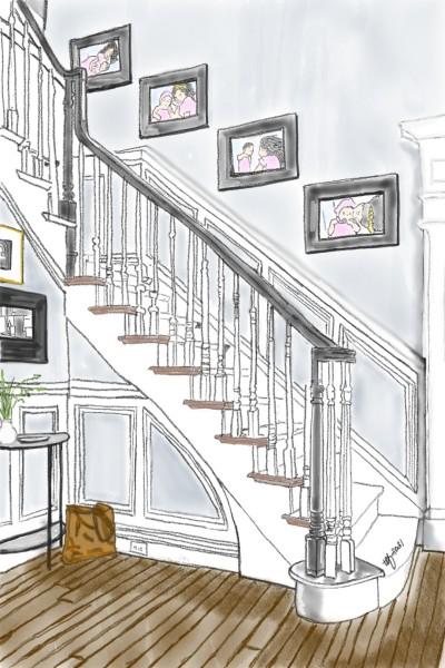 Cozy Home Stairway | TeeTee | Digital Drawing | PENUP