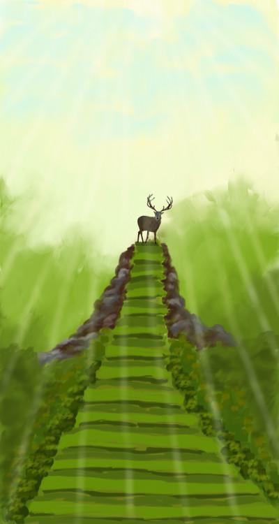 Deer's sunbath | sherlock | Digital Drawing | PENUP