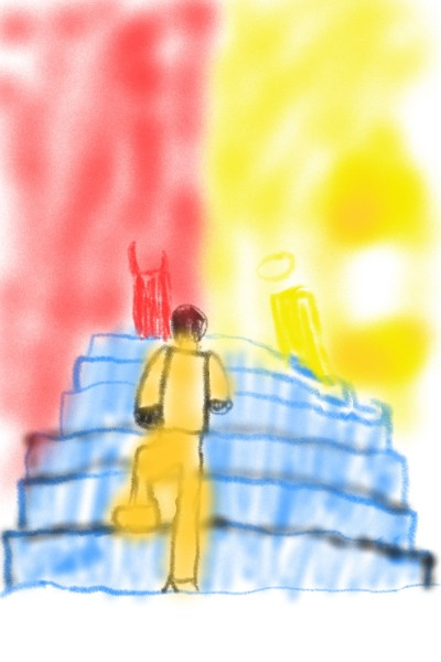 the stairs red and yellow | fanjaygray | Digital Drawing | PENUP