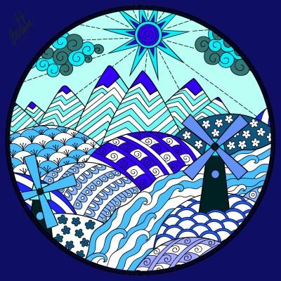 azul como el mar azul | bau95 | Digital Drawing | PENUP
