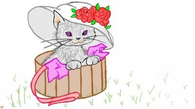 Little Kitten | Raven | Digital Drawing | PENUP