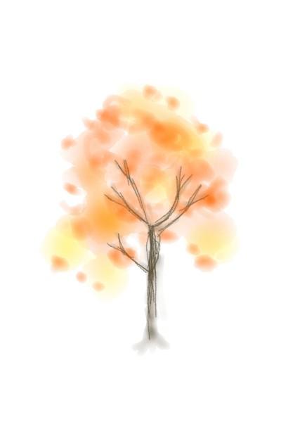 The autumm tree    kittygirl   Digital Drawing   PENUP